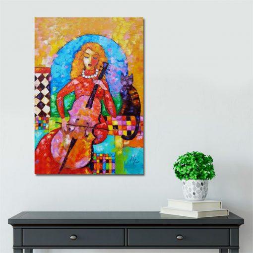 obraz panna z wiolonczelą