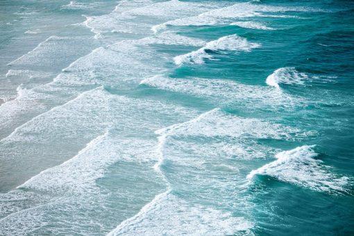 Fototapeta z falami morza