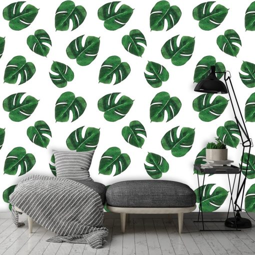 Fototapeta w zielone liście