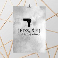 Plakat typograficzny czarno-biały