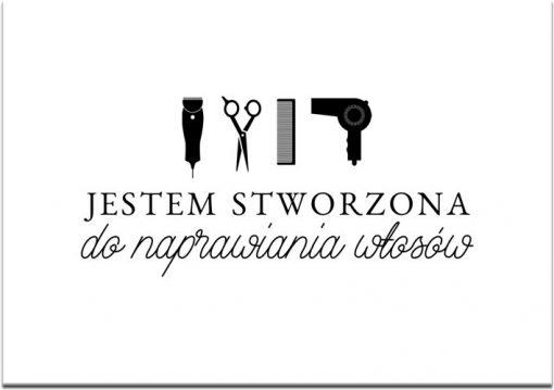 Plakat do fryzjerskiego atelier