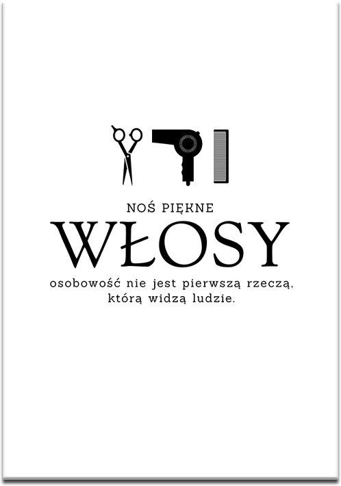 Plakat do studia fryzur