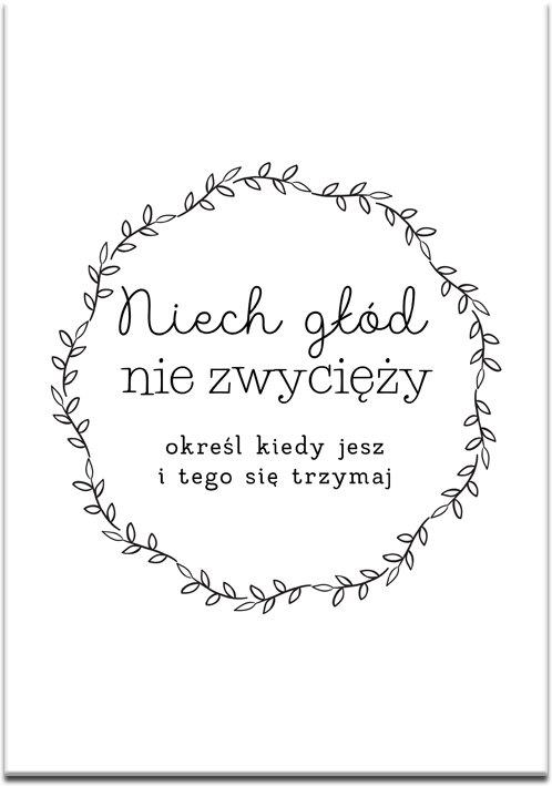 plakat z modnym hasłem