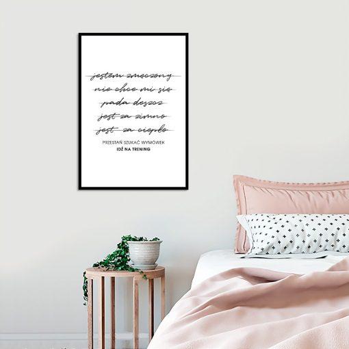 plakat z sentencją