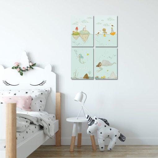 Plakaty w zestawie do dekoracji pokoju dziecka
