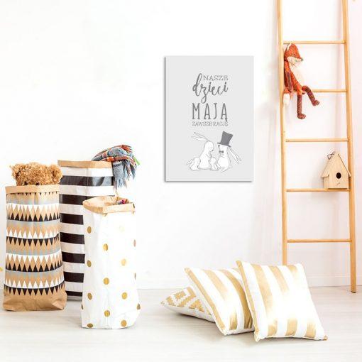 Plakat na ścianę do pokoju dziecięcego