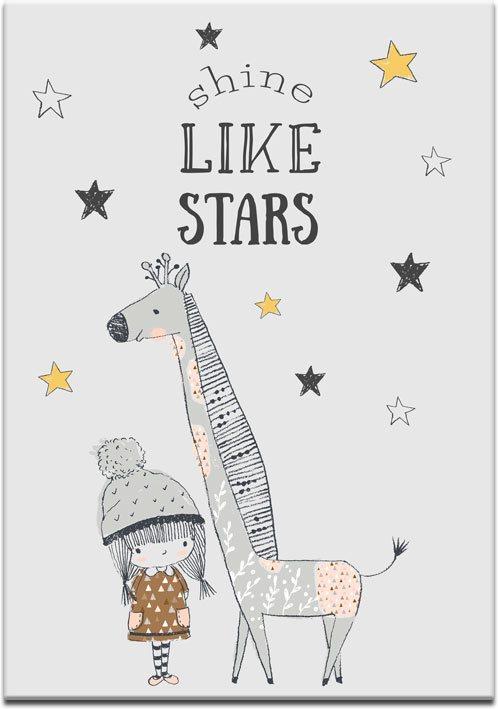 Plakat z żyrafą do pokoju dziecięcego