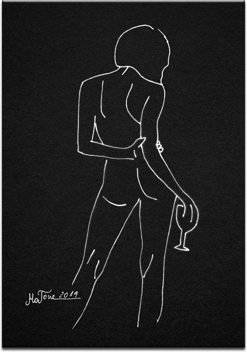 plakat z reprodukcją rysunek kobiety