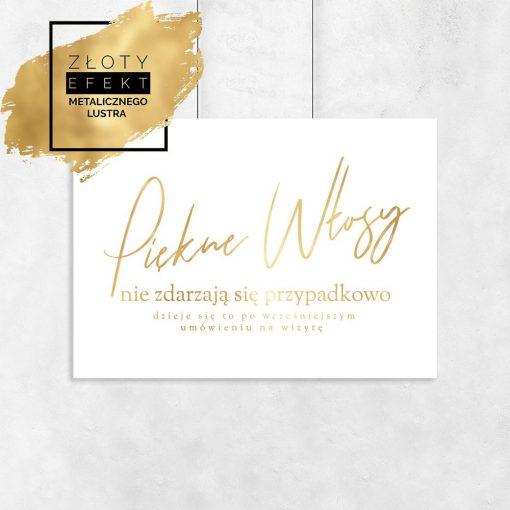 Złoty plakat piękne włosy