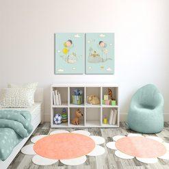Dyptyk do ozdoby pokoju dziecka