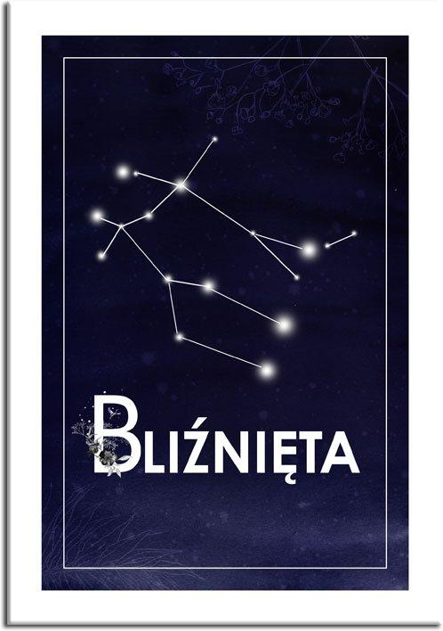 Plakat z gwiazdozbiorem do ozdoby sypialni
