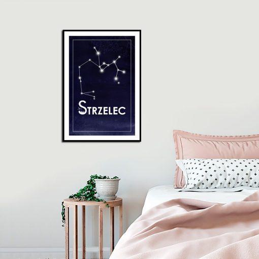 Plakat ze znakiem zodiaku do sypialni