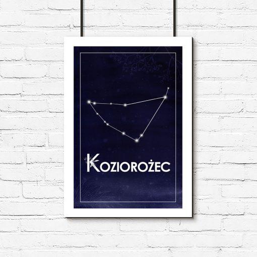 Granatowy plakat do dekoracji sypialni