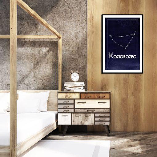Dekoracja z motywem astronomicznym do sypialni