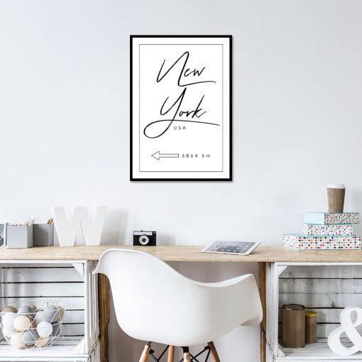 Minimalistyczny plakat do biura