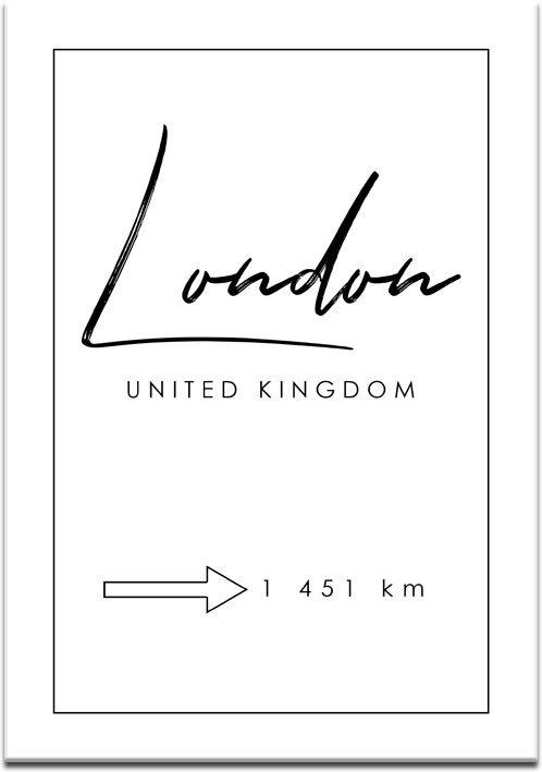 Plakat z motywem Londynu