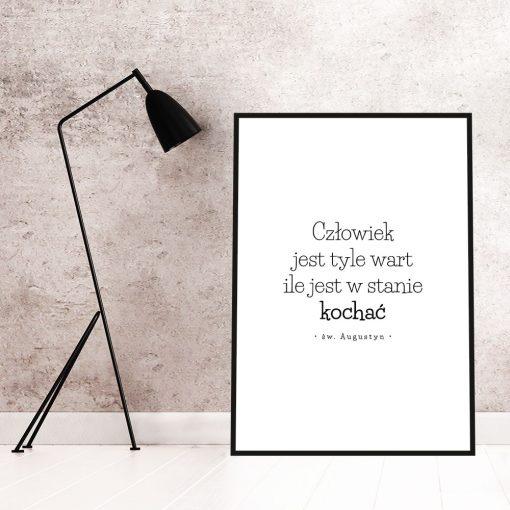 Plakat typograficzny do dekoracji salonu