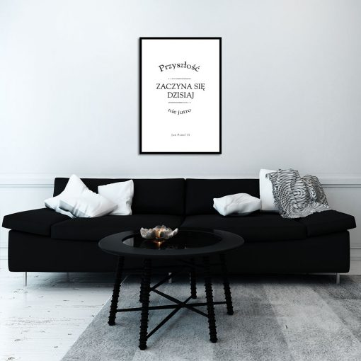 Plakat monochromatyczny do dekoracji salonu