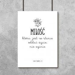 Plakat z motywem miłosnym do dekoracji salonu