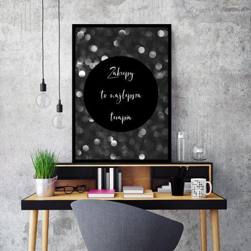 Plakat z napisem do dekoracji biura