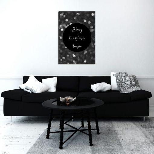 Plakat czarno biały do dekoracji salonu