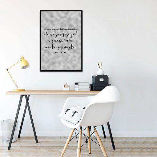 Szary plakat do dekoracji biura