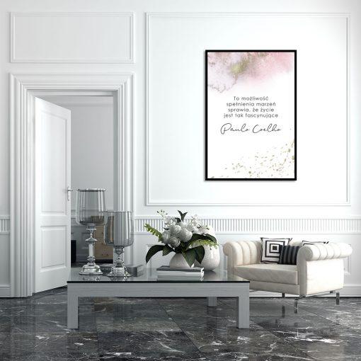 Subtelny plakat do salonu