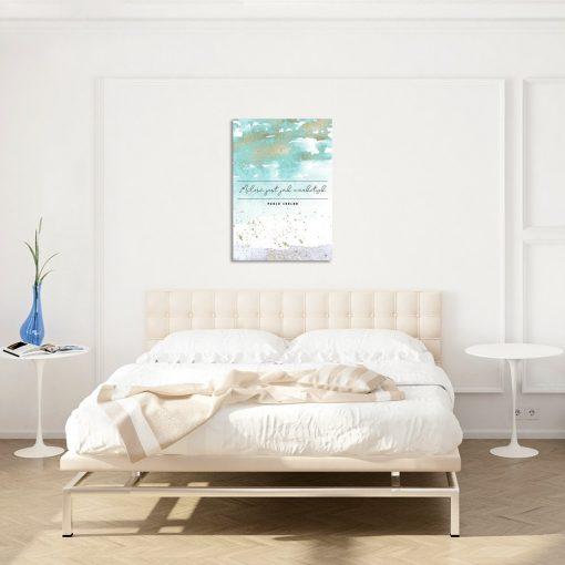 Turkusowy plakat do sypialni