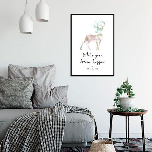 Plakat motywacyjny do dekoracji salonu