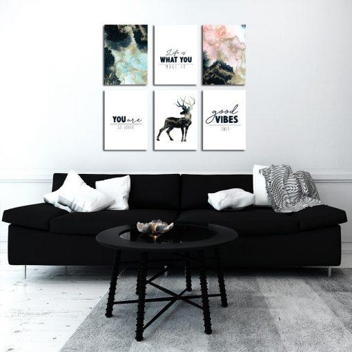 Galeria plakatów do dekoracji salonu