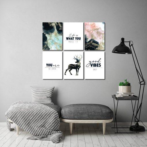Zestaw plakatów do ozdoby salonu