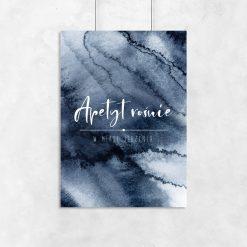 Plakat z granatową abstrakcją