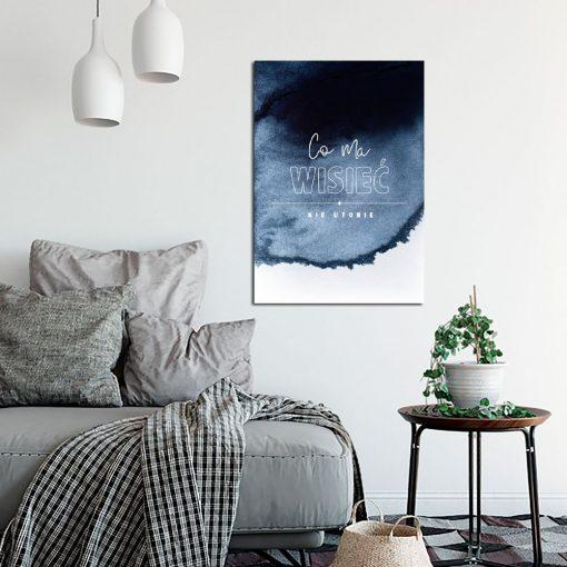 Plakat z przysłowiem do salonu