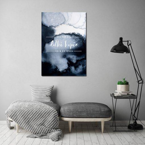 Plakat abstrakcyjny z przysłowiem