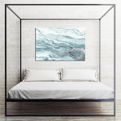 Obraz niebieski do sypialni