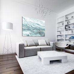 Niebieski obraz do salonu