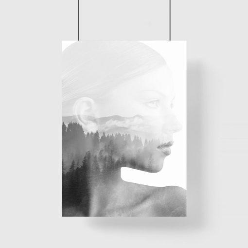 kobieta na plakacie pionowym