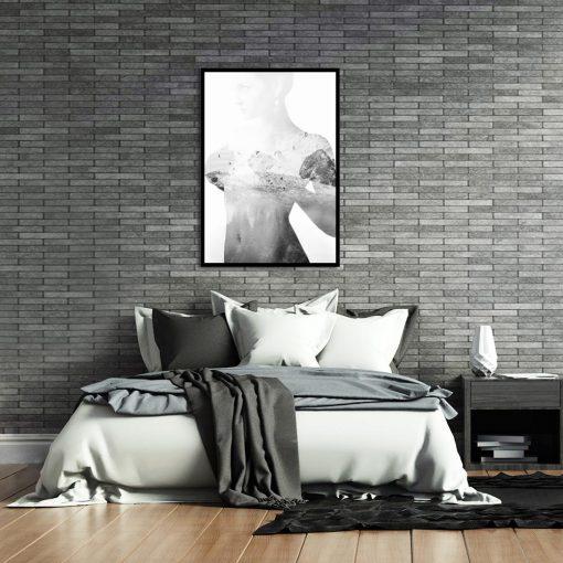 dekoracja biało-czarna
