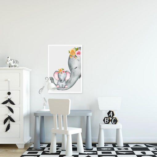 pokój dziecka z motywem słoni