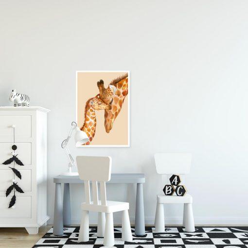 żyrafki na plakacie do domu
