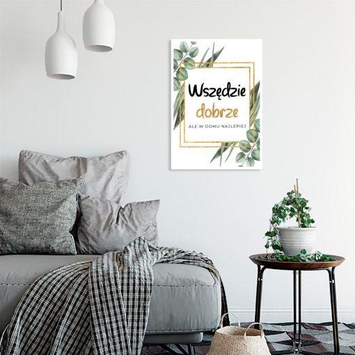 salon z motywem plakatu