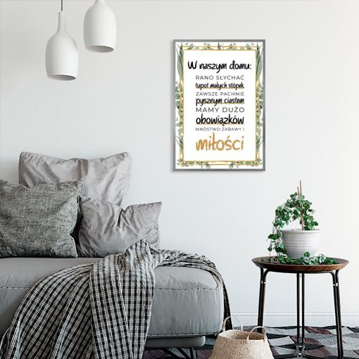 plakat do salonu z sentencją