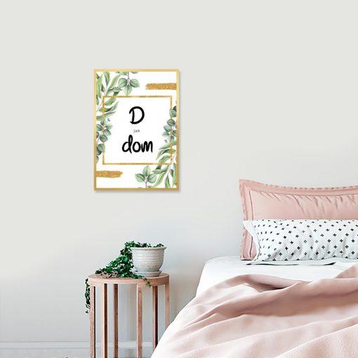 sypialnia z napisem
