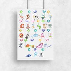 plakat kolorowy dla dziecka
