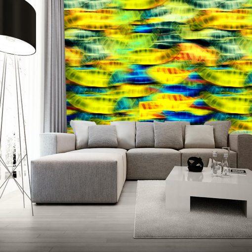 tapeta kolorowa jako dekoracja