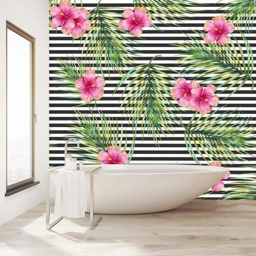 kwiatki na tapecie