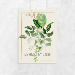 liście i dżungla na plakacie