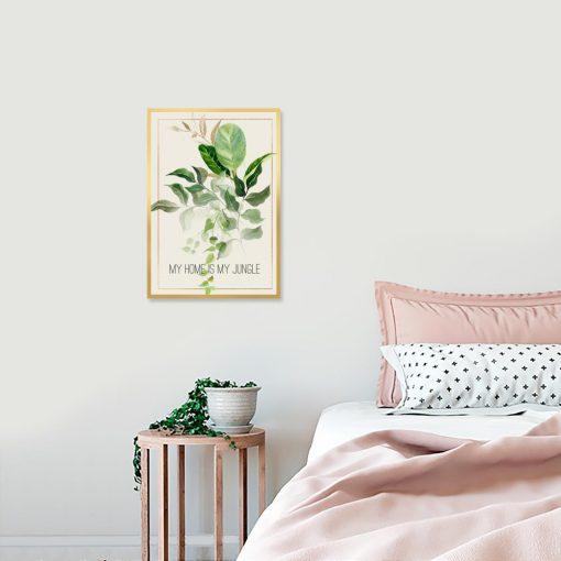 plakat z motywem dżungli do salonu
