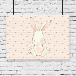 królik na poziomym i kolorowym plakacie
