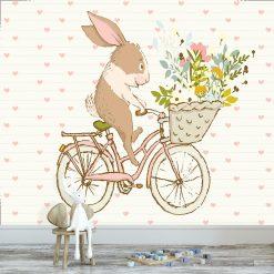 tapeta z jadącym królikiem
